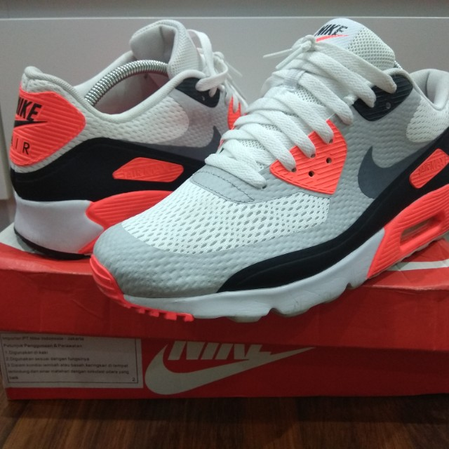 new arrivals b46a1 8f7de (2ND) Nike Air Max 90 Ultra Essential OG Infrared - Size 44.5, Men s  Fashion, Men s Footwear on Carousell