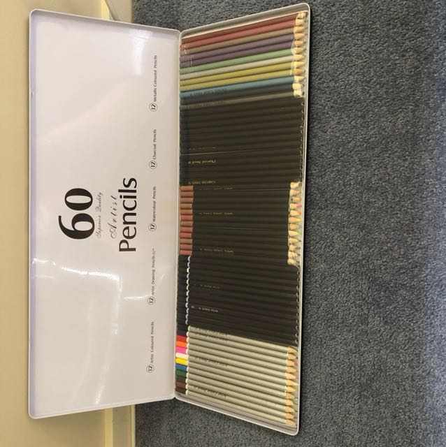 60 artist pencils