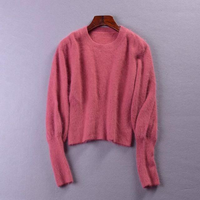 草莓色🍓針織毛衣