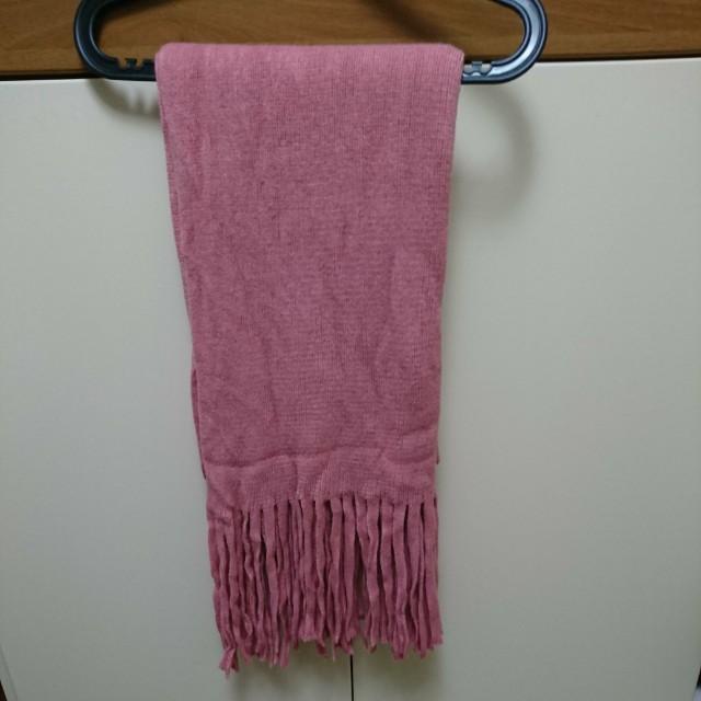 保暖粉色圍巾