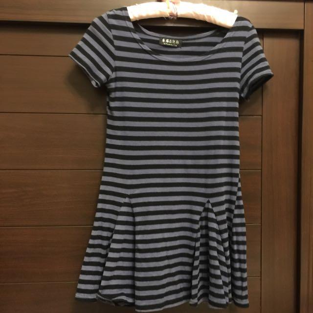 棉料短袖洋裝