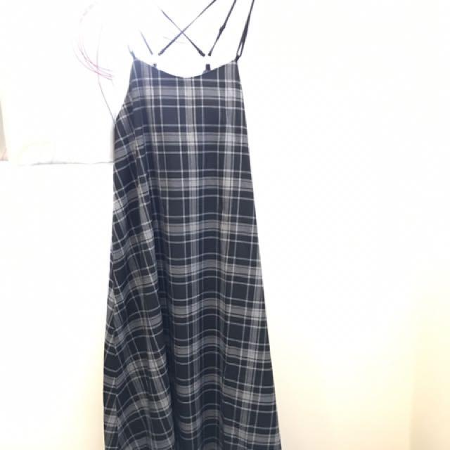全新日系格子裙