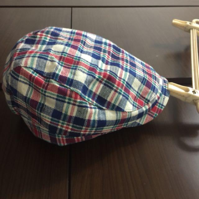 格紋貝雷帽挺版