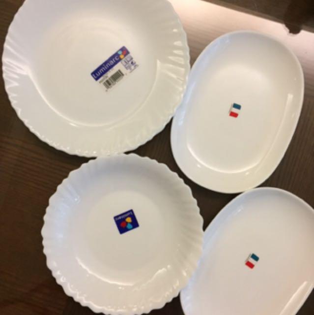 [媲美康寧]超質感雪白瓷盤💕四個一組