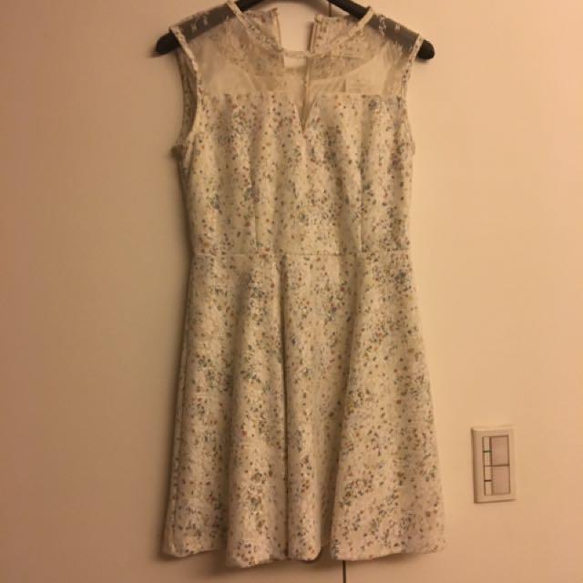 韓國精品 雪白派對/婚禮小洋裝 (含運)