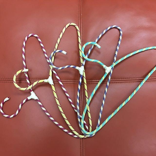 編織混色 衣架 造型衣架 不傷衣服
