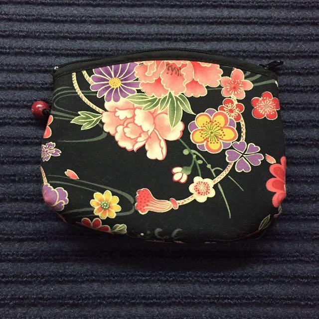 日本花色 包包 零錢包 萬用包