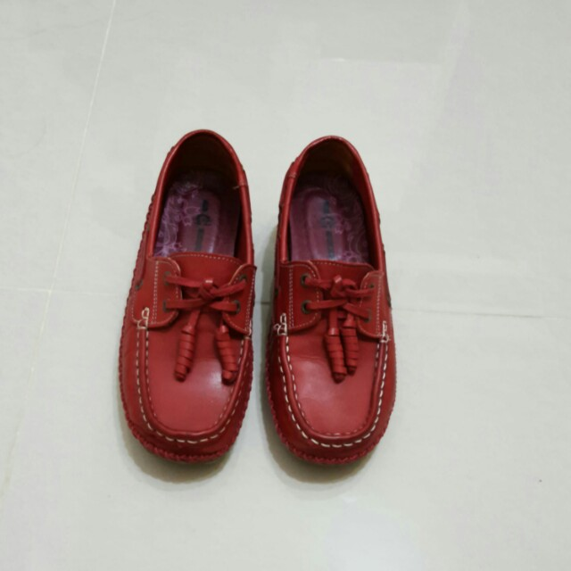 喬治 酒紅 氣墊 平底 舒服鞋子(含運)