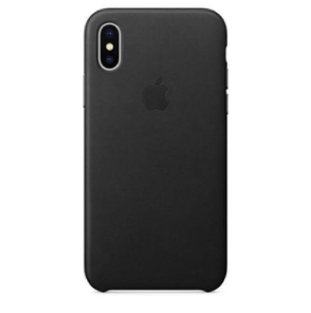 [原廠公司貨] iPhone X 皮質保護殼 - 黑