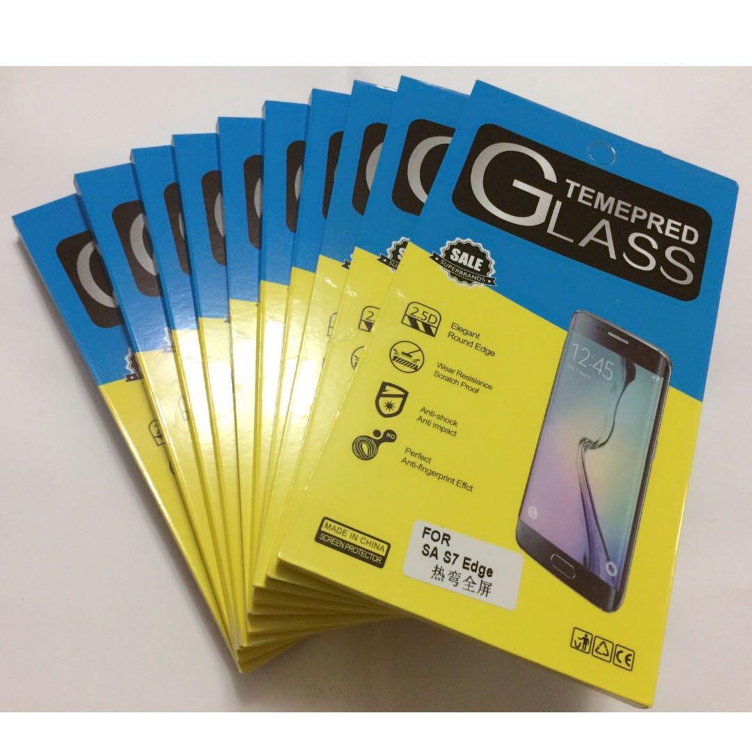 [現貨]三星 Samsung  S7 edge 手機膜 手機螢幕保護貼膜 全屏高清防爆軟膜 熱彎防爆軟膜