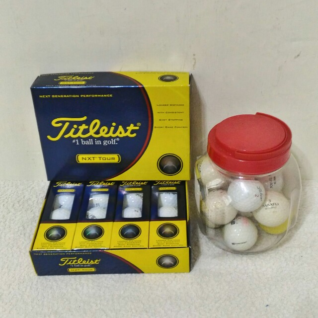 全新~ Titleist --- NXT Tour高爾夫球 一盒(12顆) + 12顆 二手高爾夫球 共 24顆