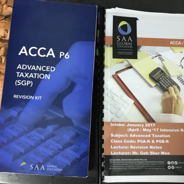 ACCA P6 Advanced Taxation (SGP), Books & Stationery