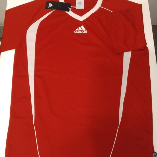 男裝adidas V領運動衫(紅)