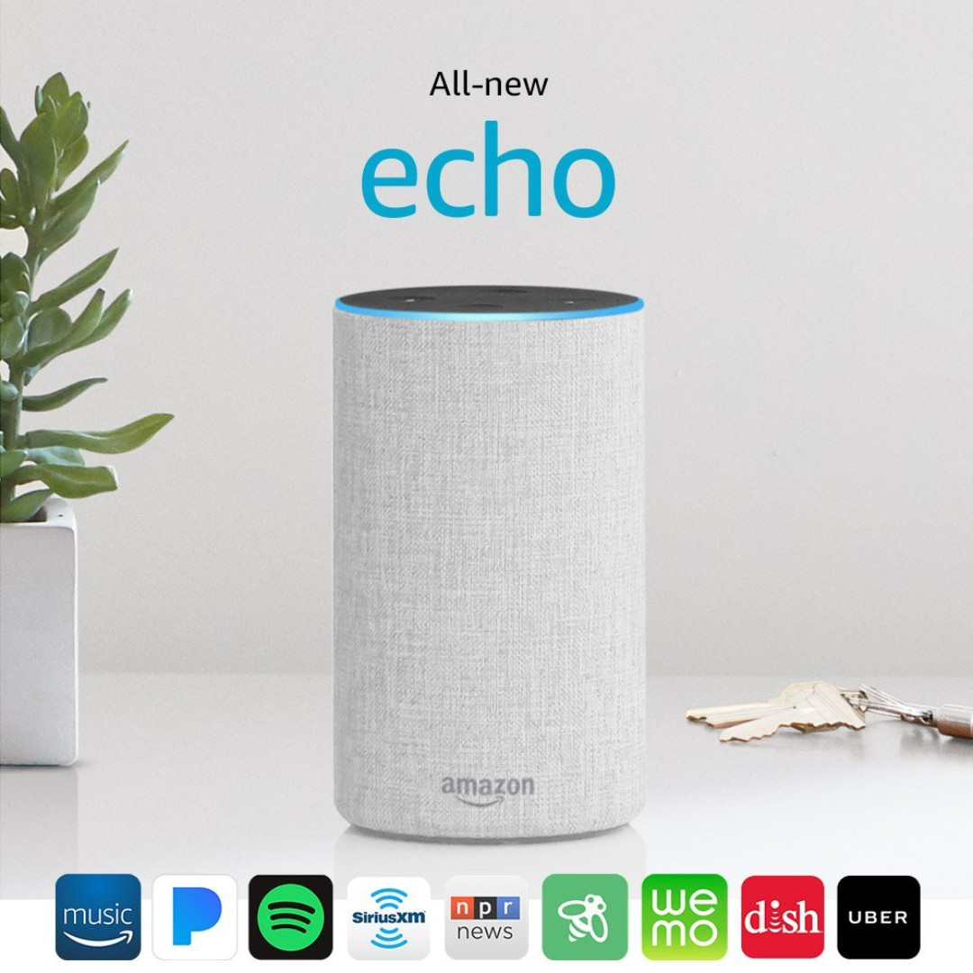 Amazon Echo 2nd Generation powered by Dolby New Design 2017