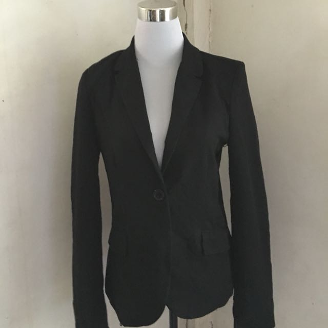 Ambiance Cotton Long Blazer