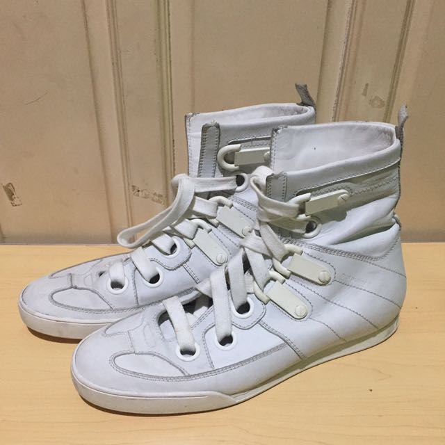 Authentic Dior Homme White High top Sneakers