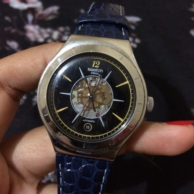 Authentic Swatch watch irony automatic dark sky