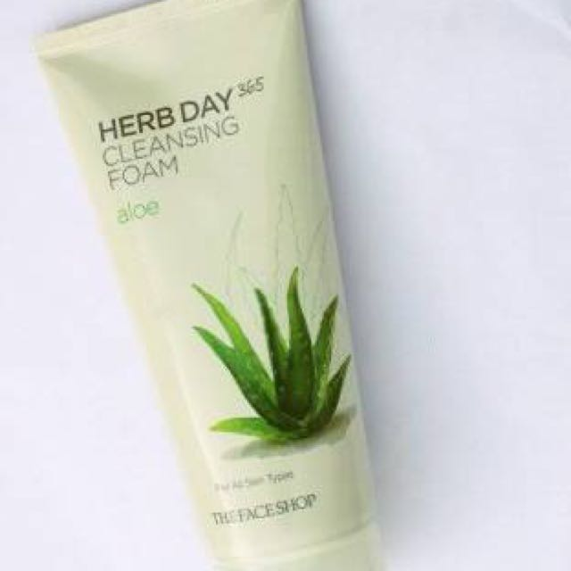 Authentic The Face Shop Herb Day 365 Facial Cleanser Aloe Vera