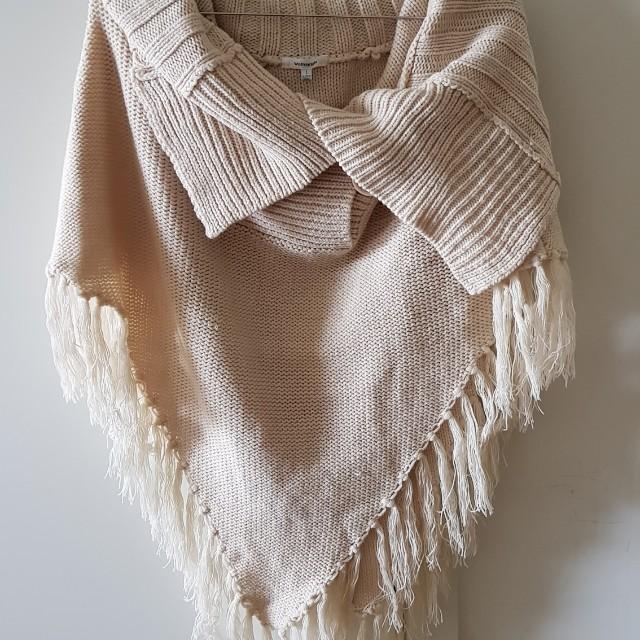 Bardot wool knit cape sweater