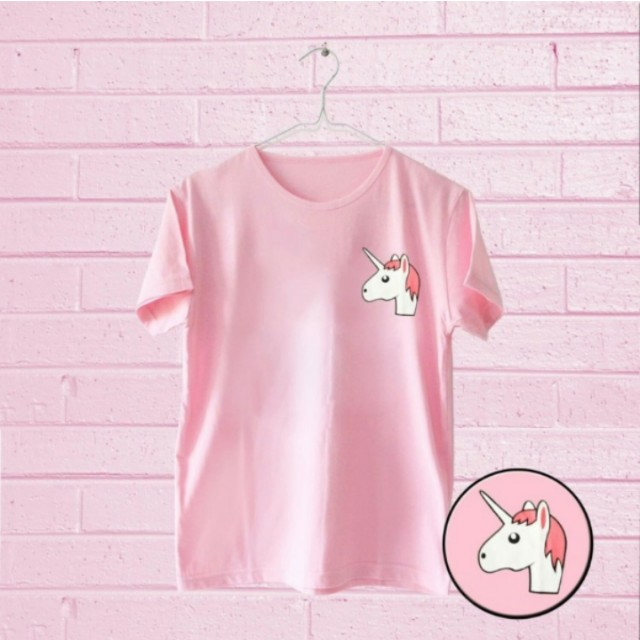 Baru JCLOTHES Kaos Unicorn Pink
