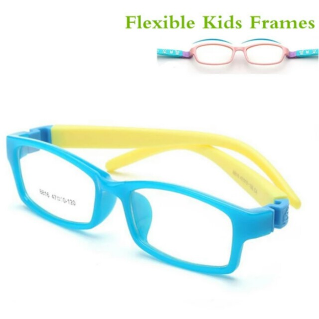 aceb52689a Bendable No Screw Kids frame glasses Boy Child glasses Flexible ...