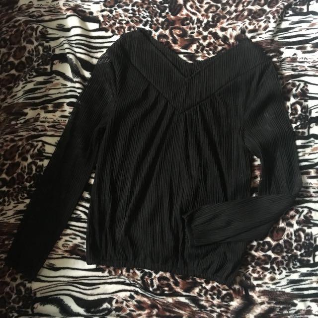 Black Formal Long Sleeves See Through Sleeves