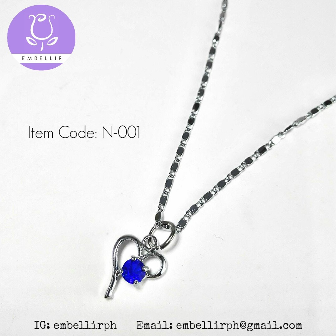 Blue Hearts Necklace