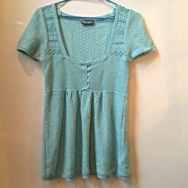 Blue Knit Tshirt