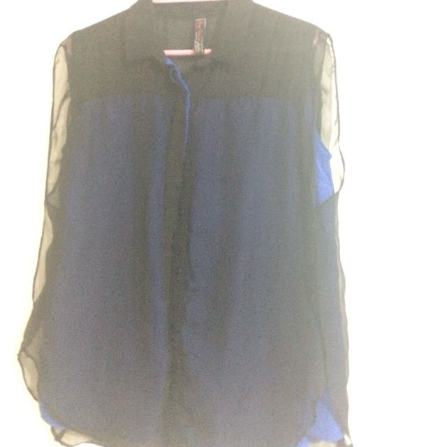 BnY Black and Blue Sleeveless top