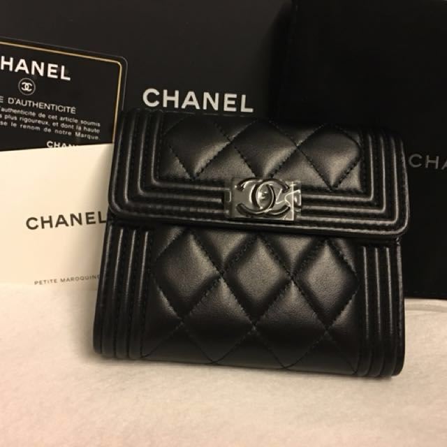 b18b3ba117ac Boy Chanel Small Flap Wallet, Luxury, Bags & Wallets on Carousell