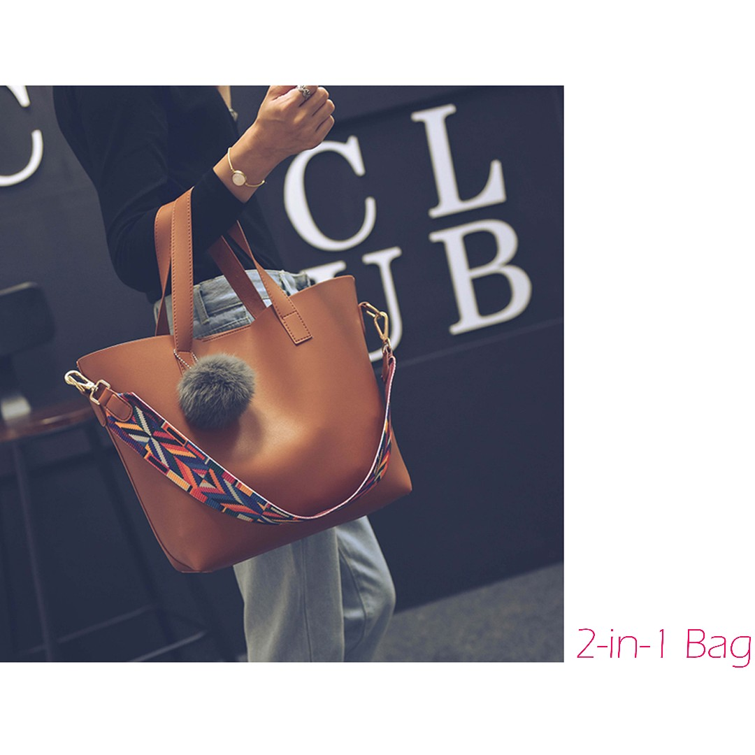 Brand New Tribal 2-in-1 Large Tote Bag / Sling Bag / Pouch / Shoulder Bag / Minimalist / Simple Bag