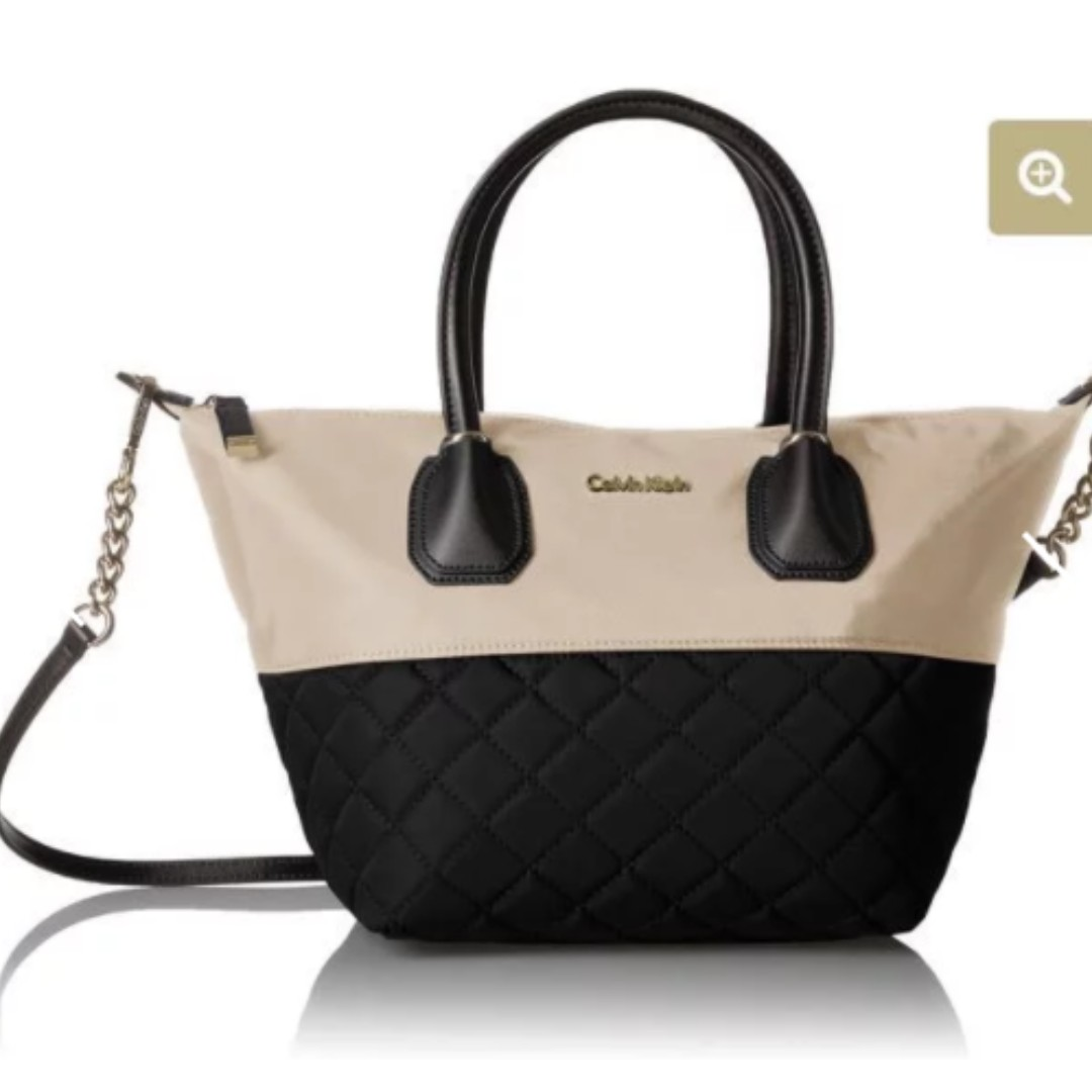 021f0fea4 Calvin Klein Florence Quilted Nylon Large Zip Tote, Women's Fashion ...