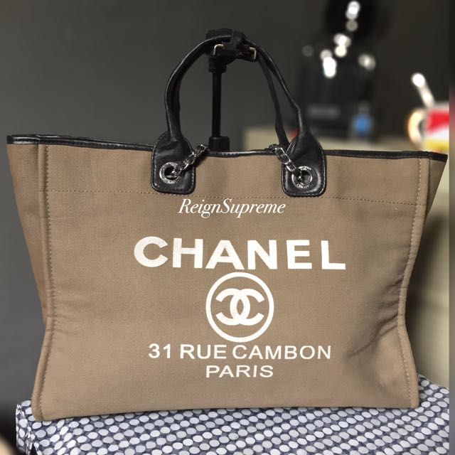 3bc17f0129c2 Chanel Rue Cambon Tote XL on Carousell