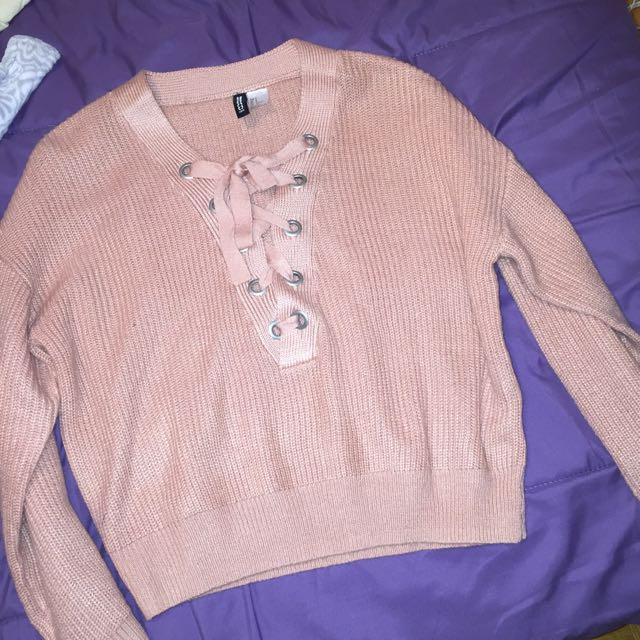 Cross Lace Sweater
