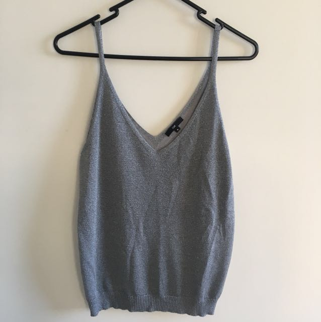 Cue knitted single silver Sz M