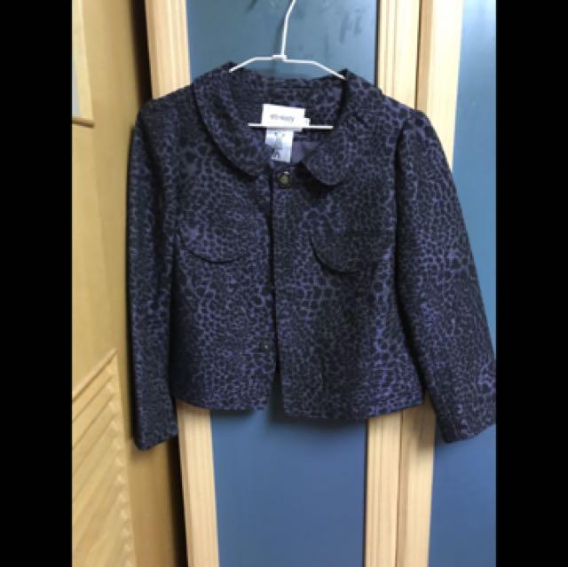 en-suey暗紫豹紋短版外套