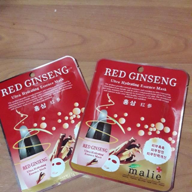 Red ginseng mask