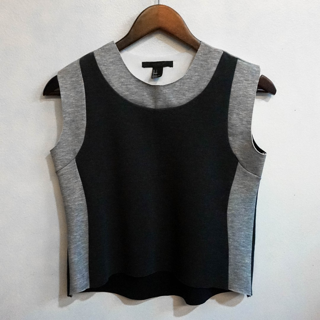 =Forever 21 | Grey Color-block Top
