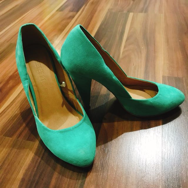 Forever 21 Turquoise Heels
