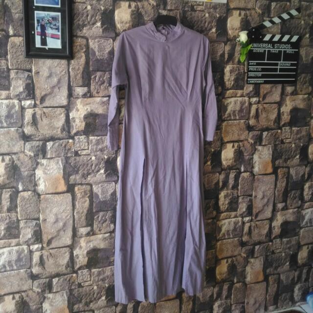 Gamis/dress belah tengah