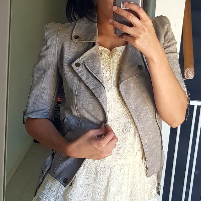 Grey summer zip jacket