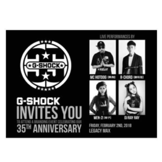 G-SHOCK 35th ANNIVERSARY SHOCK THE WORLD IN TAIPEI票卷2張