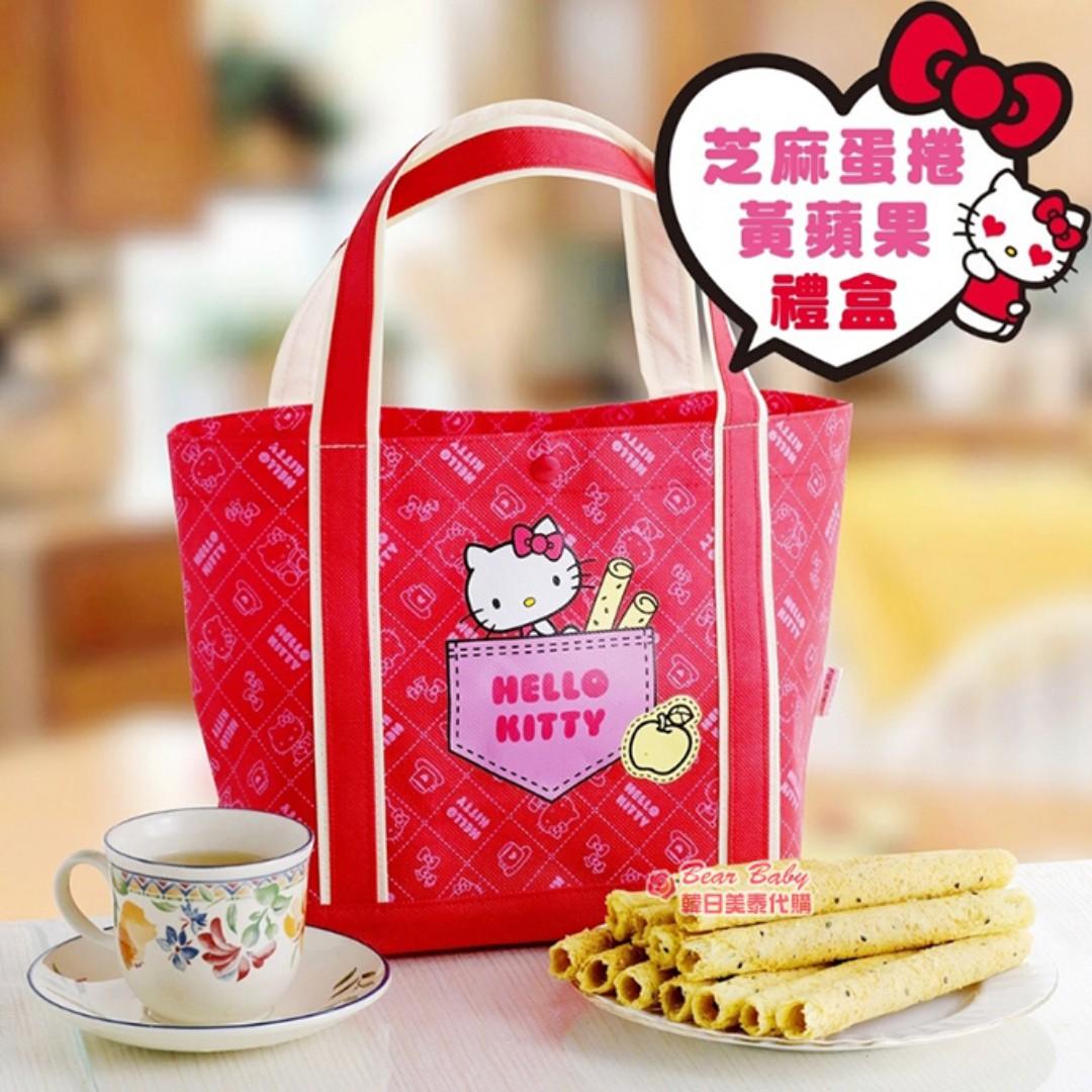 Hello Kitty 芝麻蛋捲黃蘋果禮盒 🔸集單到 1/30🔸