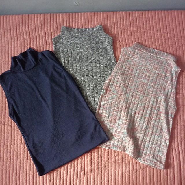 High neck sleeveless top bundle