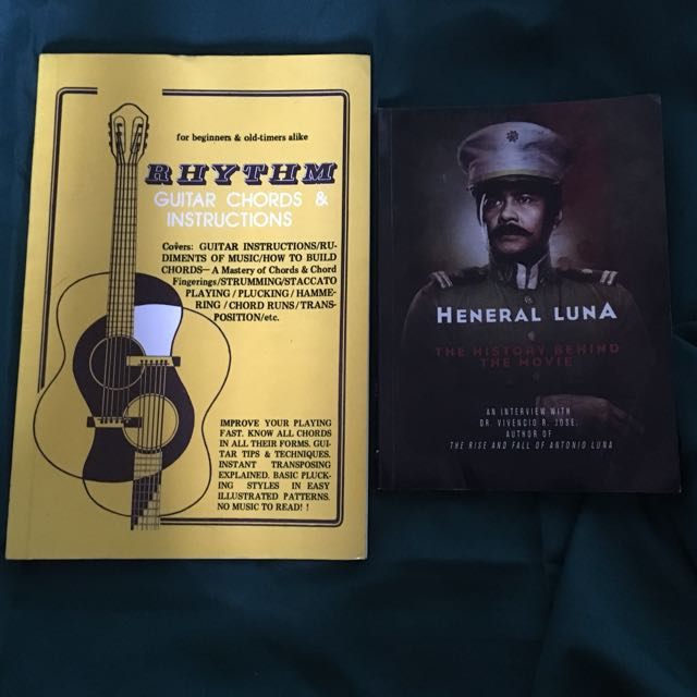 History and Music Books -Heneral Luna and Rhythm Guitar Chords and ...