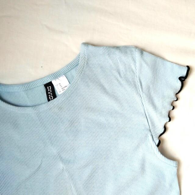 H&M Baby Blue Jersey A Line Dress