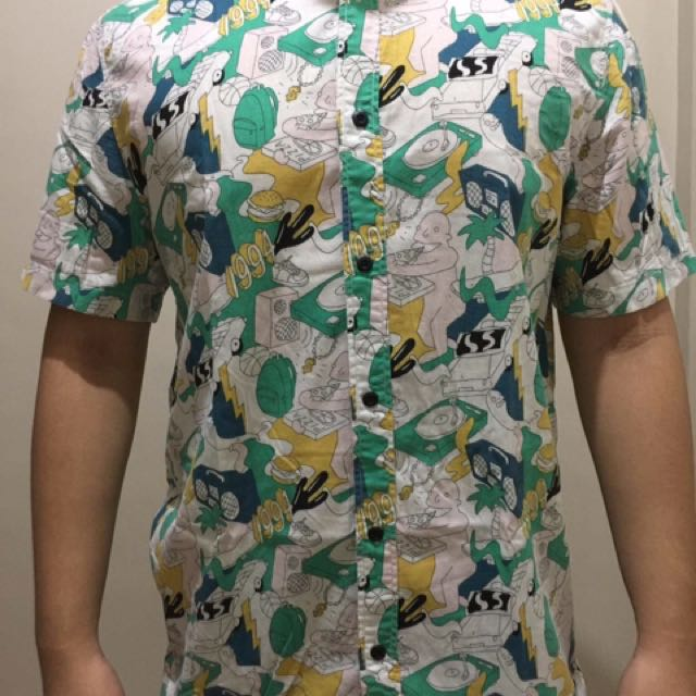 "H&M ""Divided"" Print Polo"