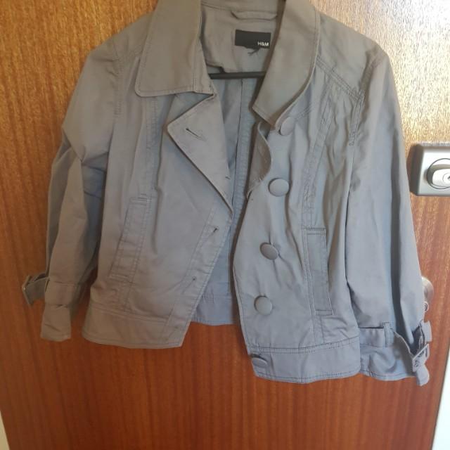 H&M grey short jacket