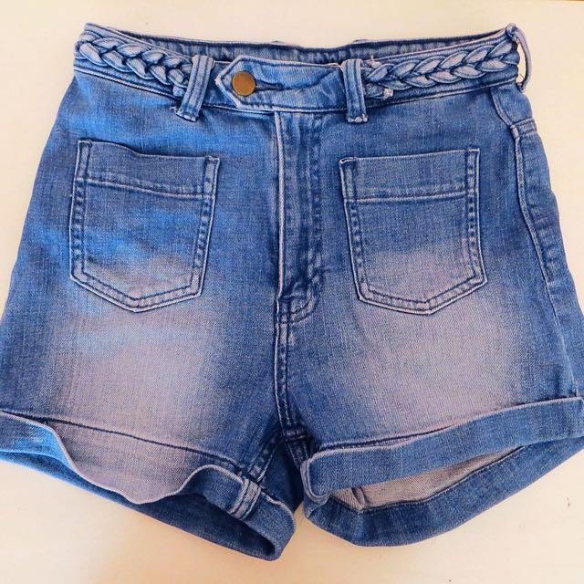 H&M high waisted Denim Shorts
