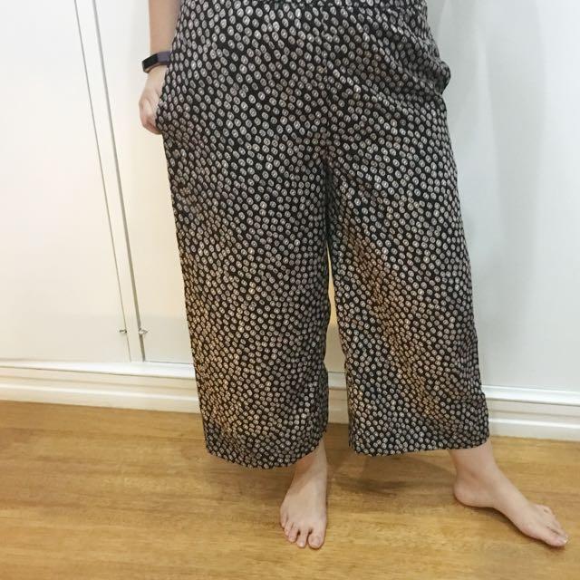 H&M Printed Culottes
